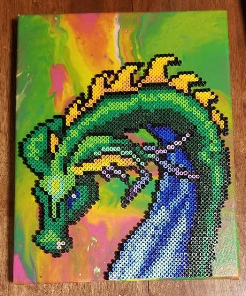 Dragon Perler Art